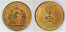 MEDAGLIA COMMEMORATIVA ORDINAZIONE SACERDOTALE, MILANO 1850 SACERDOTE G.MAJOLI (7) - Other