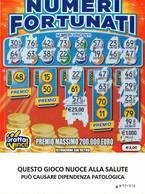 GRATTA E VINCI   - NUMERI FORTUNATI DA €5.00 - USATO N° 48 HH -  (QUESTO GIOCO NUOCE ALLA SALUTE) - Biglietti Della Lotteria