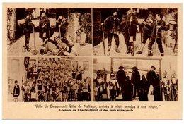 LEGENDE DE CHARLES QUINT ET DES TROIS AUVERGNATS. VILLE DE BEAUMONT, VILLE DE MALHEUR...... - Beaumont