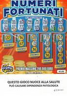 GRATTA E VINCI   - NUMERI FORTUNATI DA €5.00 - USATO N° 30 AA -  (QUESTO GIOCO NUOCE ALLA SALUTE) - Biglietti Della Lotteria