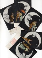 Serie 5 Cartoline - MOON SERIES - VIAGGIATE - Ansichtskarten