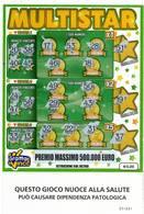GRATTA E VINCI   - MULTISTAR DA €5.00 - USATO -  (QUESTO GIOCO NUOCE ALLA SALUTE) - Biglietti Della Lotteria
