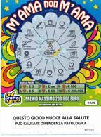 GRATTA E VINCI   - M'AMA NON M'AMA DA € 3.00 - USATO -  (QUESTO GIOCO NUOCE ALLA SALUTE) - Biglietti Della Lotteria