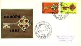 *1968 - LUSSEMBURGO - EUROPA - BUSTA FDC.+6 - FDC