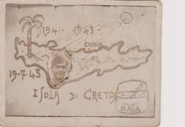 ORIGINAL PHOTO   ~  WW2  --   ISOLA DI CRETA , CRETE  ~  NAIA  ~  SOLDAT FROM ITALIA, ANGUELLI MICHELE ~   8,7 Cm X 7 Cm - Guerra, Militari