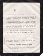 HAUTE-CROIX HEIKRUIS PEPINGEN Théodore Vicomte De NIEULANT Et De POTTELSBERGHE 1806-1882 Page Guillaume Ier MOERZEKE - Décès