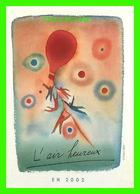 ADVERTISING - PUBLICITÉ - MINISTRE WALLON DE L'ENVIRONNEMENT - L'AIR HEUREUX EN 2002 - BOOMERANG - - Publicité
