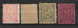 1894 - KEWKIANG ( JIUJIANG ) M.Nr.4,7,8,10,  2 Scan - Used Stamps