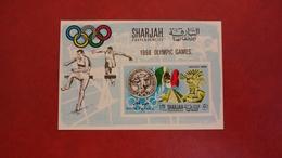 Sharjah Khor Fakkan 1968 - Summer Olympic Games Mexico - Imperf Sheet Mi 15 B MNH - Sports Athletics - Khor Fakkan