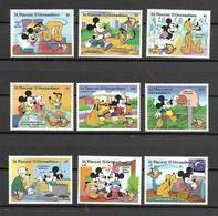 Disney Set St Vincent Gr 1998 70 Years Micky Mouse MNH - Disney