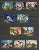 Disney Set Antigua & Barbuda 1994 Jules Verne's Novels MNH - Disney