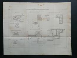 ANNALES PONTS Et CHAUSSEES (Dep51) - Plan D'installation Du Canal De Bourgogne - Imp.L.Courtier 1898 (CLB82) - Nautical Charts