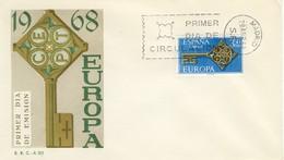1968 - SPAGNA - EUROPA - BUSTA FDC.+15 - FDC