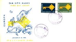 1968 - TURCHIA - EUROPA - BUSTA FDC.+6 - 1921-... Repubblica