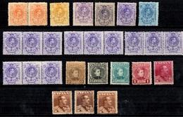 Espagne Belle Petite Collection De Bonnes Valeurs Neufs **/* 1901/1930. B/TB. A Saisir! - Unused Stamps