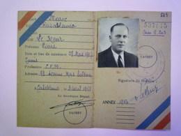 GP 2019 - 848  MAROC  -  CASABLANCA  :  Carte De Membre Du  RPR  1948  -  RARE   XXX - Vieux Papiers