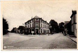 BEAUMONT. ENTREE DE LA VILLE PAR LES ROUTES DE CHARLEROI ET PHILIPPEVILLE. - Beaumont