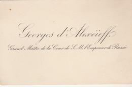 Carte De Visite De Georges D'Alexéieff, Grand -Maître De La Cour De S.M. L'Empereur De Russie. - Visitekaartjes
