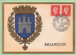 """2F40 MARIANNE DULAC X 2 - Cachet  """"EXPO PHILATELIQUE CULTURELLE - 05 BRIANCON"""" - 20-21 OCT. 1979 - - Postmark Collection (Covers)"""