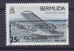 Bermuda 1993 Mi. 635      25 C Royal Air Force Flugboot Consolidated Catalina - Bermuda