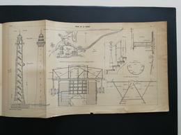 ANNALES PONTS Et CHAUSSEES - Plan Du Phare De La Coubre - 1906 (CLB87) - Nautical Charts