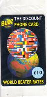 UK - Flags & Globe, BUZZ Prepaid Card 10 Pounds, Mint - Regno Unito