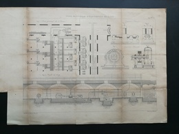 ANNALES PONTS Et CHAUSSEES (Dep 75) - Plan D'Usine Municipale D'électricité De Paris - Graveur Macquet 1890 (CLB88) - Architecture