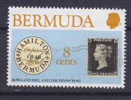 Bermuda 1980 Mi. 378      8c. Rowland Hill Penny Black Stamp On Stamp - Bermuda
