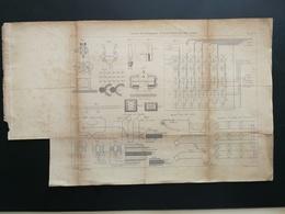 ANNALES PONTS Et CHAUSSEES (Dep 75) - Plan D'Usine Municipale D'électricité De Paris - Graveur Macquet 1890 (CLB89) - Architecture
