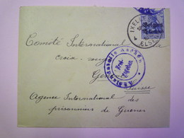 GP 2019 - 852  BELGIQUE Zone Occupée 1916  -  Enveloppe Adressée à La CROIX-ROUGE De Genève  (à Voir)  XXX - Non Classificati