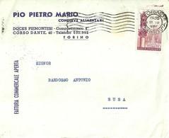 """3260 """"PIO PIETRO MARIO-CONSERVE ALIMENTARI-TORINO"""" BUSTA ORIGINALE - Italy"""