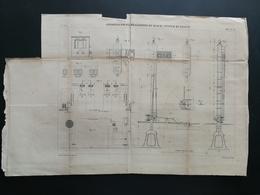 ANNALES PONTS Et CHAUSSEES - Plan De Réalisation Du Block-System En France - Graveur E.Pérot 1882 (CLB90) - Máquinas
