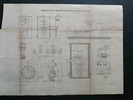 ANNALES PONTS Et CHAUSSEES - Plan De Réalisation Du Block-System En France - Graveur E.Pérot 1882 (CLB91) - Máquinas