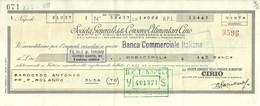 """3261 """"CAMBIALE LIRE 12.000 SOC. GENERALE DELLE CONSERVE ALIMENTARI CIRIO A BARDOSSO A.-SUSA""""  ORIGINALE - Cambiali"""