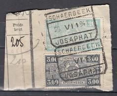 Fragment Met Stempel Schaerbeek Josaphat - Railway