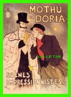 ADVERTISING - PUBLICITÉ - MOTHU ET DORIA EN 2001 - ILLUSTRATEUR, STEINLEN - - Publicité