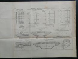 ANNALES PONTS Et CHAUSSEES (Dep 42) - Plan D'amélioration Du Canal Latéral à La Loire - Imp L.Courtier 1899 (CLB92) - Nautical Charts