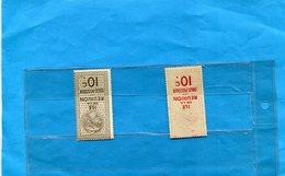 Réunion-2- Timbres  COLIS POSTAUX N° 4+5 Neuf Sans Ch  Cote 52 Eu - Réunion (1852-1975)