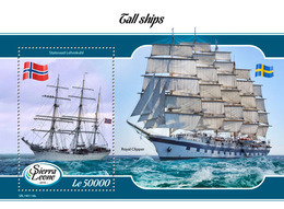 SIERRA LEONE 2019 - Tall Ships S/S. Official Issue. - Boten