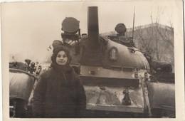 "UKRAINE. #1622 A PHOTO. ""MILITARY. GIRL TANKIST. TANK. *** - Film Projectors"