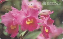 Télécarte Japon / 110-011 - FLEUR -  ORCHIDEE **  Série TROPICARIUM  IZU ORCHID PARK ** - FLOWER Japan Phonecard - 2436 - Fleurs