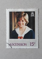 N° 316       Lady Diana  -  21 Ans  -  Oblitéré - Ascension (Ile De L')