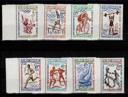 Maroc YV 413 à 420 N** Complete JO De Rome 1960 - Maroc (1956-...)