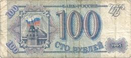 RUSSIE - 100 RUBLE . 1993 . N° BN 5608839 . 2 SCANES - Russia