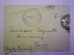 GP 2019 - 857  LETTRE En  FM Avec  CACHET  Hôpital Complémentaire N° 189  TOURNON  1940   XXXX - Franchise Stamps