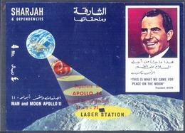SHARJAH - UAE - SPACE  Apollo  11 - LASER STATION - NIXON OVPT - APOLLO 14 - **MNH - 1971 - Spazio