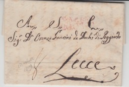 ITALIA USED COVER 1819 NAPOLI LECCE - Italie
