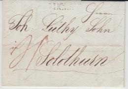 SCHEIWZ USED COVER 1822 LIGERZ SOLOTURN - ...-1845 Vorphilatelie