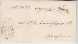 ITALIA USED COVER 1848 VILLAFRANCA - 1. ...-1850 Prephilately