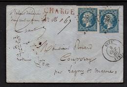 9 Octobre 1860. BETZ  . 2 X 20 Ct N° 14. - 1849-1876: Classic Period